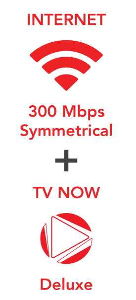 300 Mbps Internet plus TV Now Deluxe for $169.00!